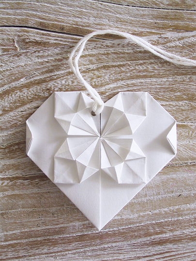 Origami Heart Pattern Download  from Eat Drink Chic