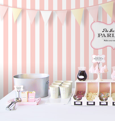 "DIY Ice-Cream Parlour ""Make your own Sundaes"" Buffet"