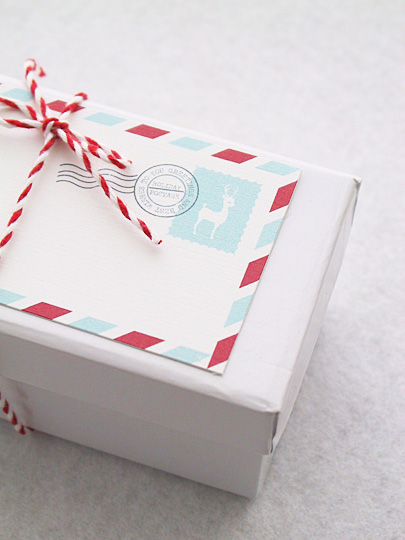 Holiday Mail Stripes Gift Tag » Eat Drink Chic
