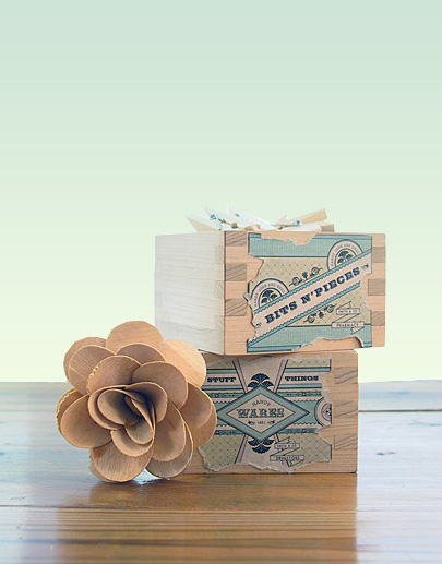 DIY Oil & Vinegar Bottle & Wooden Box Vintage Labels