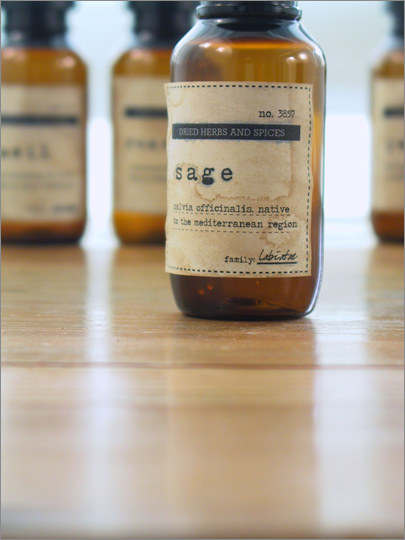 DIY Vintage Herb and Spice Bottles