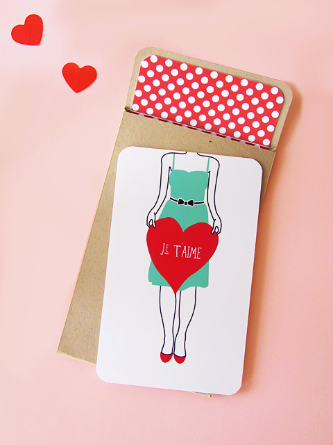 valentine girl heart card DIY Inspiration: Free Wedding Printables {8}