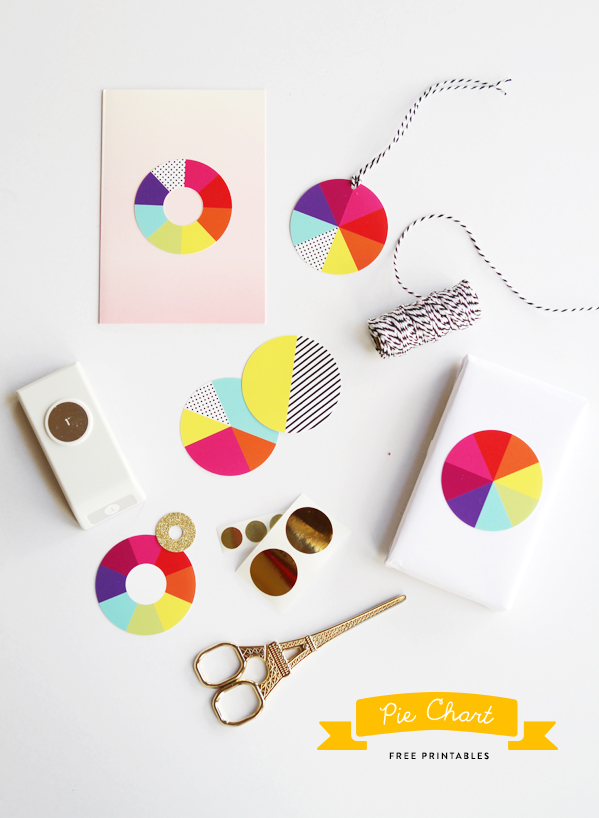 free pie chart gift tags eat drink chic
