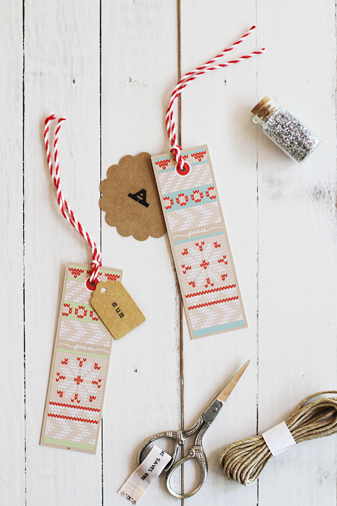 Knitting Gift Tags : Free holiday knit gift tags eat drink chic
